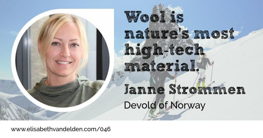 Janne Strommen Devold of Norway Wool Academy Podcast 046